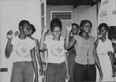 Women at the Centre for Popular Education T shirts