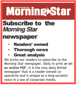 Advert for the Morning Star newspaper